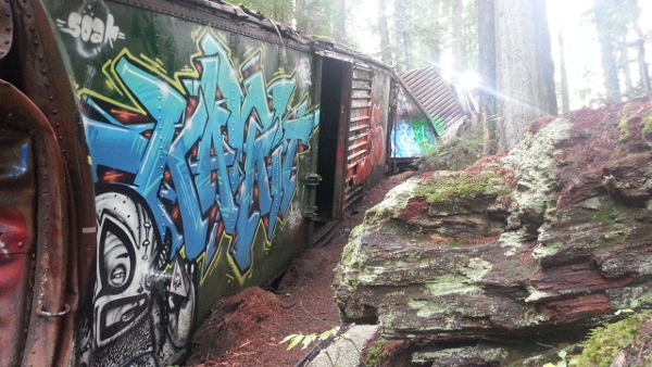 train wreck trail, whistler